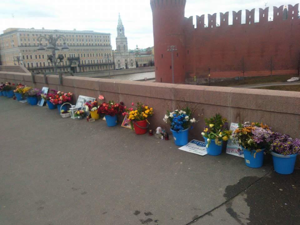 Немцов мост 7 апреля 2018 года
