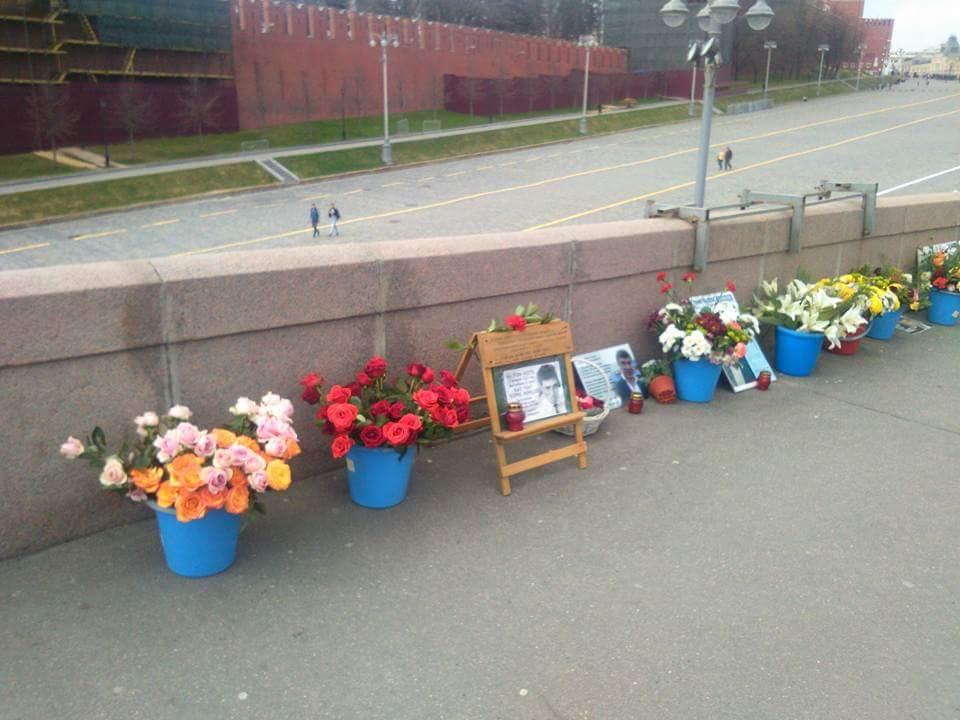 Немцов мост 21 апреля 2018 года